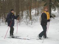W sniegu na biegówkach