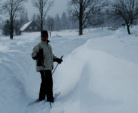 Na biegówkach - śnieżna zima
