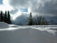Śnieg - zima w górach