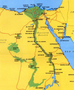 mapka Egiptu