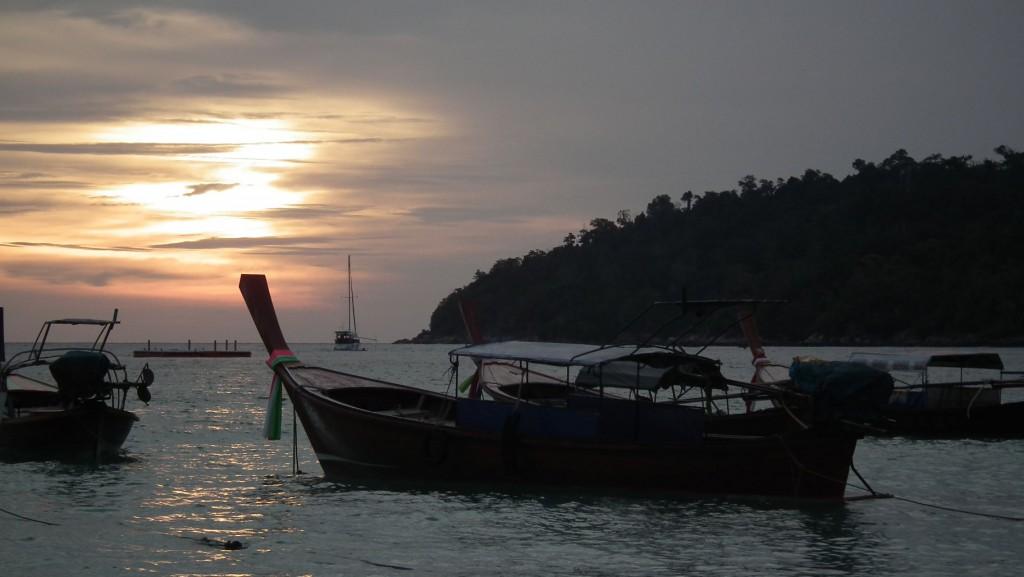Zachód na Pattaya Beach